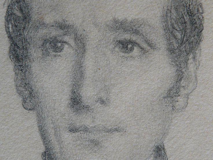CHASSERIAU Théodore,1844 - Portrait de Lamartine - drawing - Détail 04