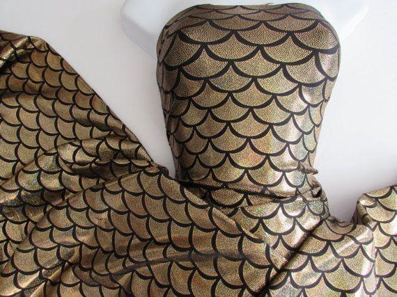 / Kleuren:. Shimmer, deze veiling is voor 1 Yard (36 in een yd) door 58 inch/60 inch breed 4way stretch  Middelzwaar Lycra geweldig voor zeemeerminnen > Tops! Ambachten jurken, shirts, rokken en meer.