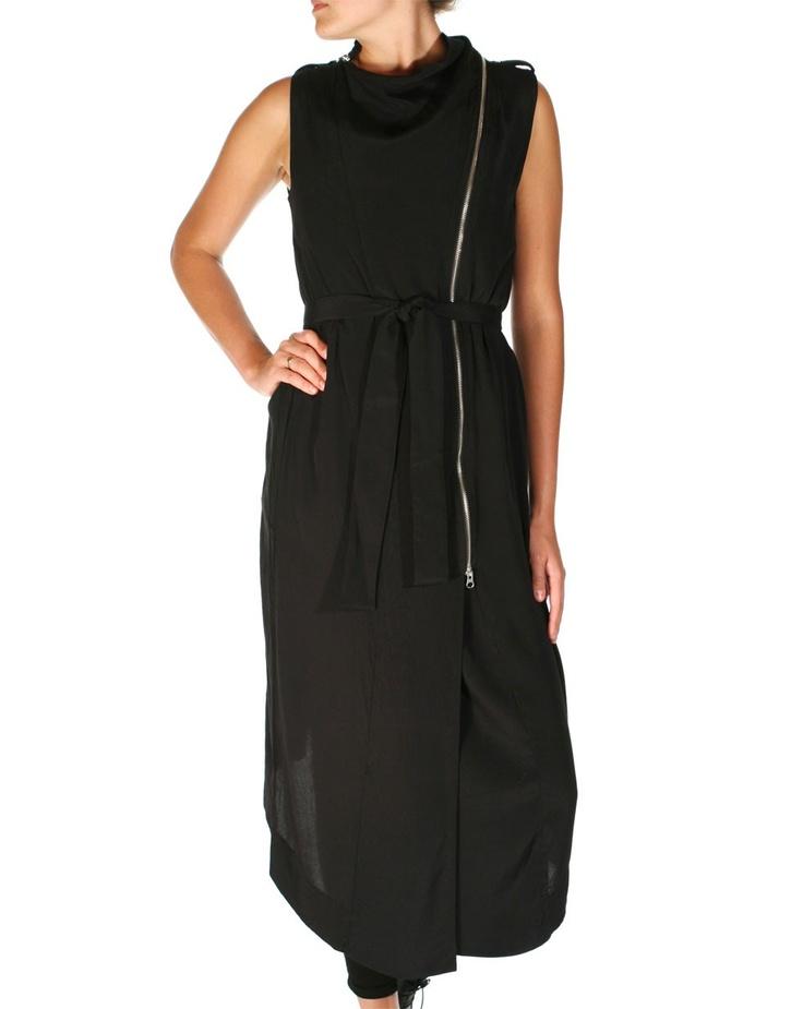 Vespa Zip Up Dress in Black by Nom*d