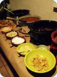 chili bar,or tortilla soup or bean chili for people to eat real food
