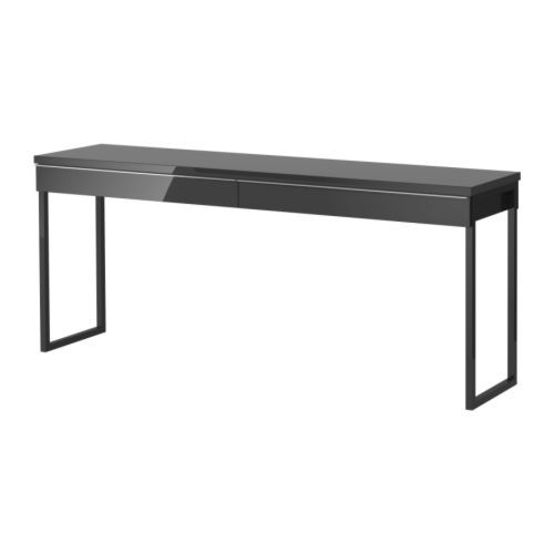 BESTÅ BURS Desk IKEA A long table top makes it easy to create a workspace for two. Finished on the back. Suitable for use in the middle of a room.