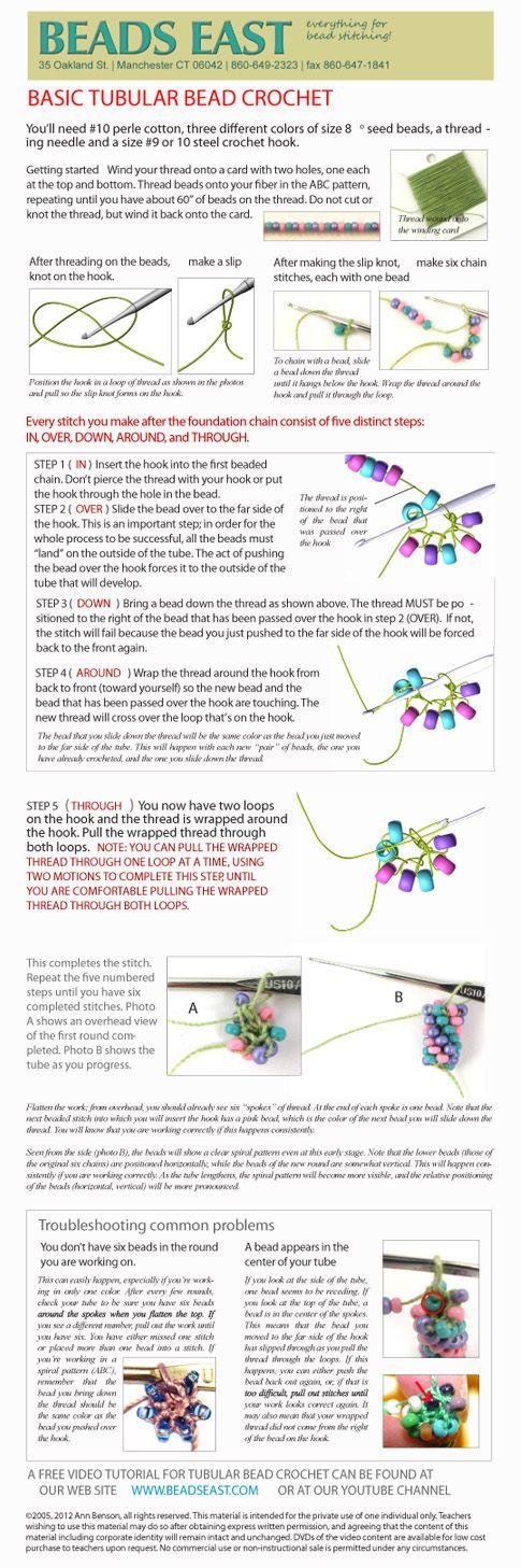 tubular bead crochet tutorial #Seed #Bead #Tutorials