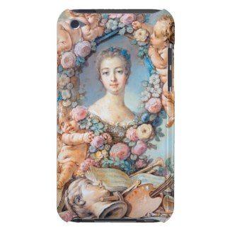 Madame de Pompadour François Boucher rococo lady iPod Case-Mate Case  #madame #pompadour #pastel #portrait #boucher #Paris #France #classic #art #custom #gift #lady #woman #girl