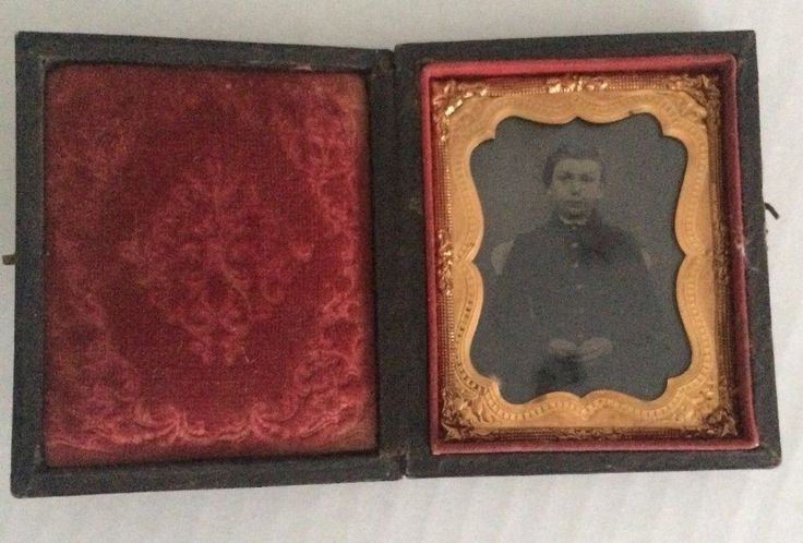 Daguerreotype Photo of Young Man in Gutta Percha Case From a Maine Estate  | eBay