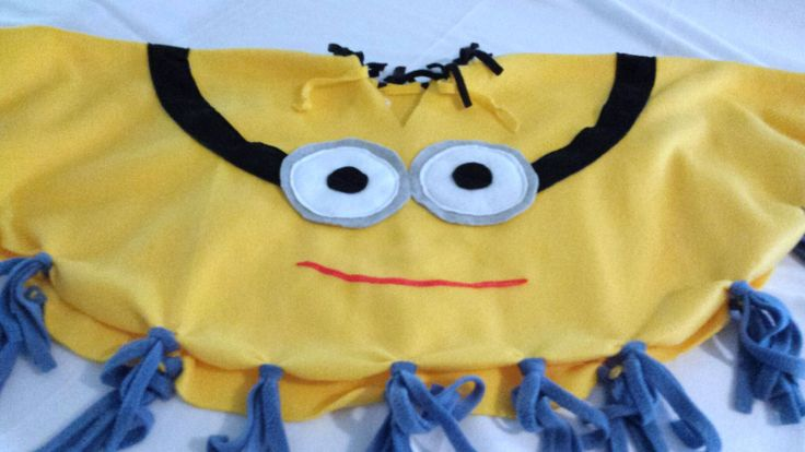 Toddler Costume Kids Costume Children's Costume Boy MINION Costume Girl MINION Costume Fleece Poncho Cosplay by TerriLeeCNS on Etsy