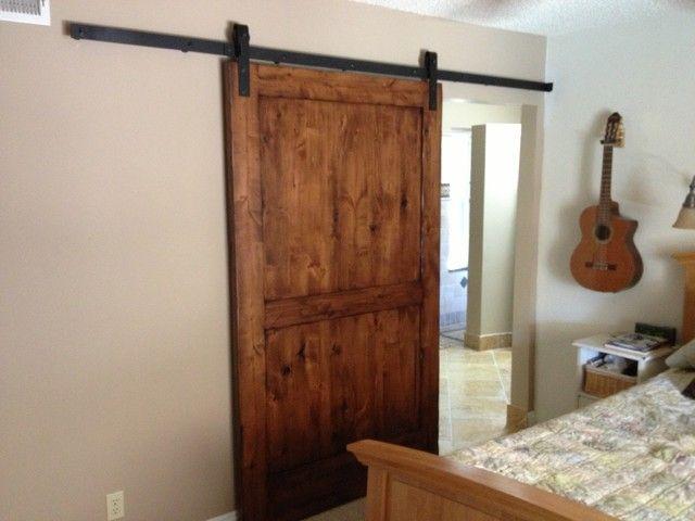 Interior Barn Doors Compliance Using the Home Design: Sliding Barn Door Knotty Alder