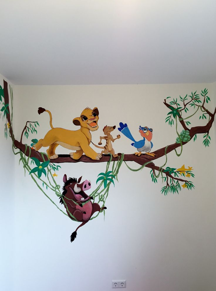 The 25 best disney mural ideas on pinterest disney wall for Disney wall stencils for painting kids rooms