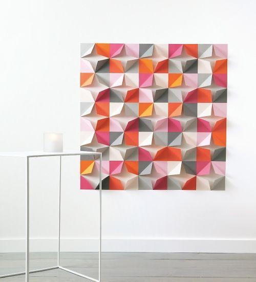 Mural POP origami DIY from We Freebies - printable paper art!