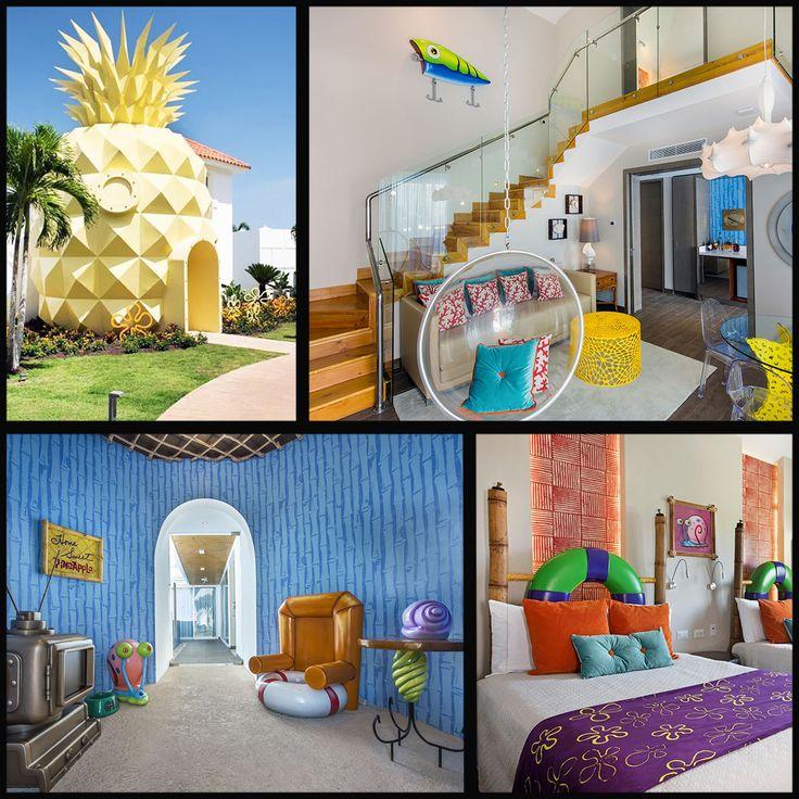 Домик Губки Боба реально существует! Первый в мире отель в виде ананаса — домик Губки Боба — находится в Доминиканской Республике, на курорте Punta Cana. Удовольствие, однако, недешевое — за одну ночь пребывания в ананасе около $3,800. Зато в распоряжении настоящих фанатов более 140 квадратных метров интерьера Губки Боба.