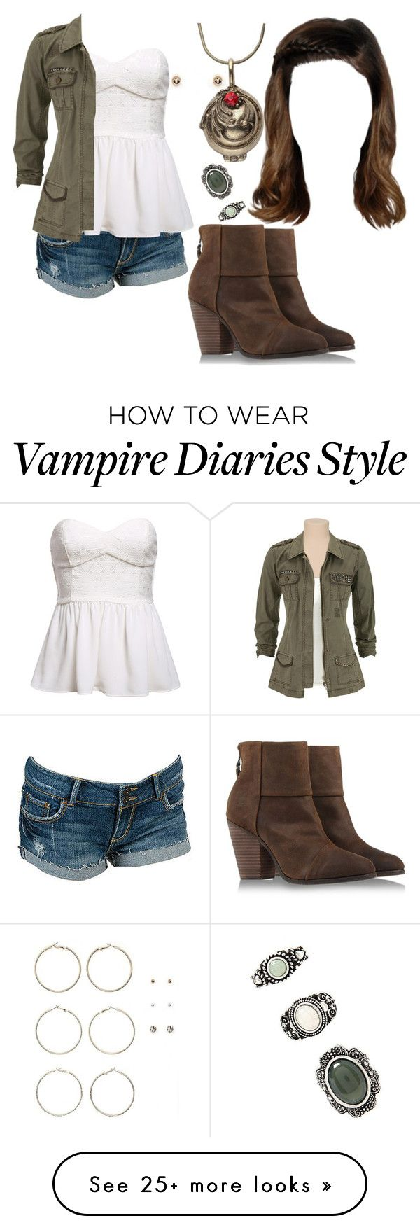 """The Vampire Diaries: Malia Gilbert [5x12]"" by grandmasfood on Polyvore featuring Forever 21 and rag & bone"