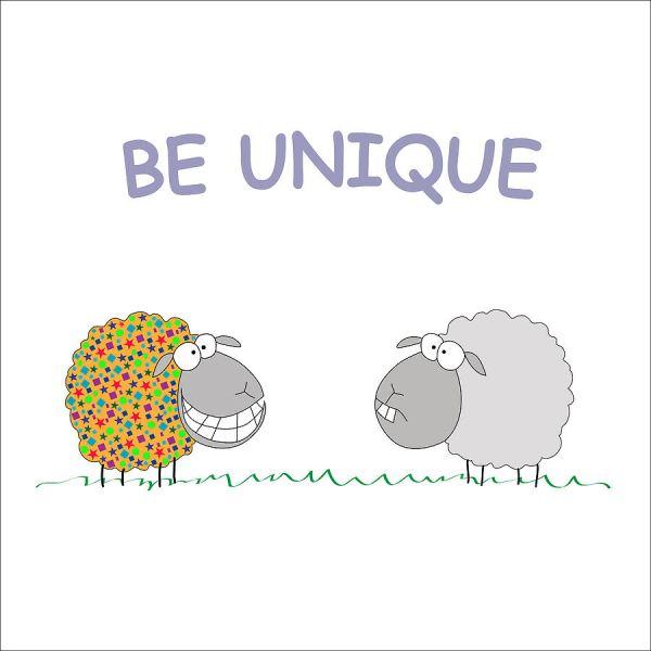Be a unique sheep