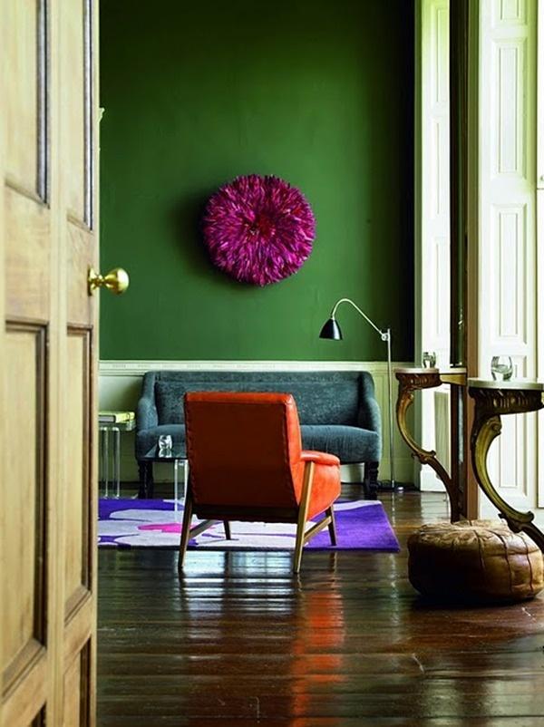 Haute color!: Wall Colors, Living Rooms, Wall Colour, Green Wall, Emeralds Green, Jewels Tones, Juju Hats, Bold Colors, Accent Wall