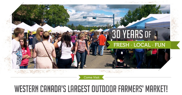 The St.Albert Farmers Market is Western  Canada's largest outdoor farmers' market.  The weekly market attracts 10 to 15 thousand people each Saturday from mid June to the beginning of October.  With more than 250 vendors every week, you don't want to miss it.