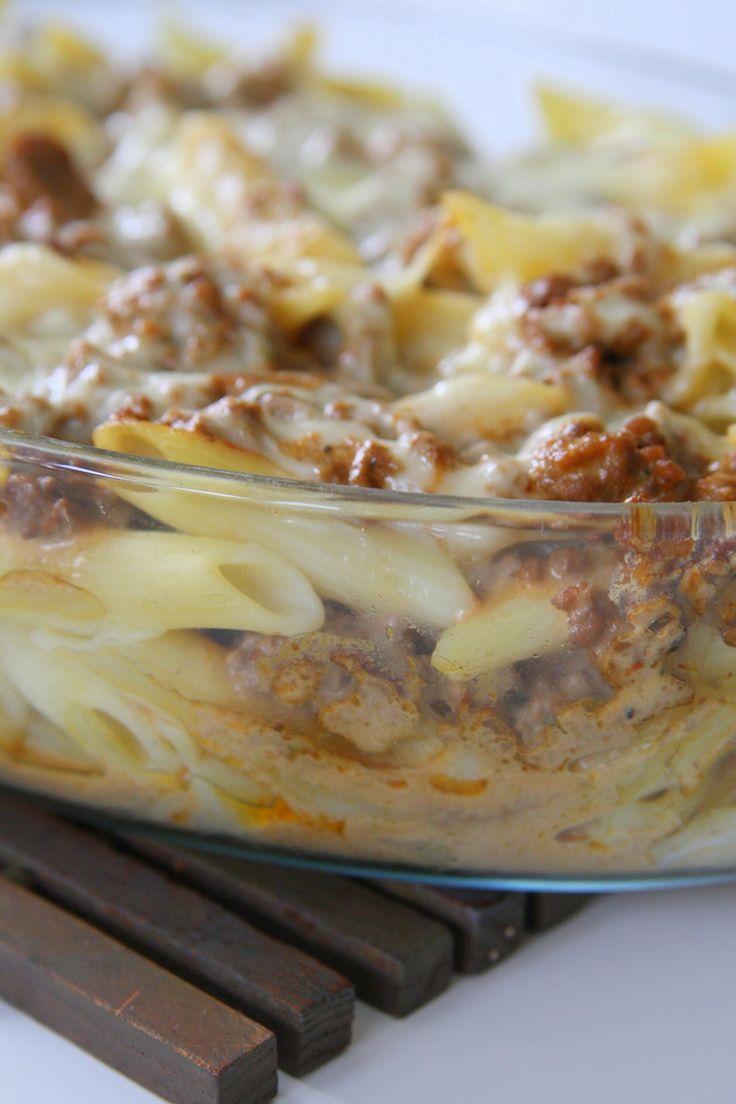 Pastagratäng med krämig mozzarella | Jennys Matblogg
