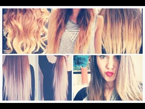 Como hacer las mechas californianas en casa, Ombre hair! - YouTube