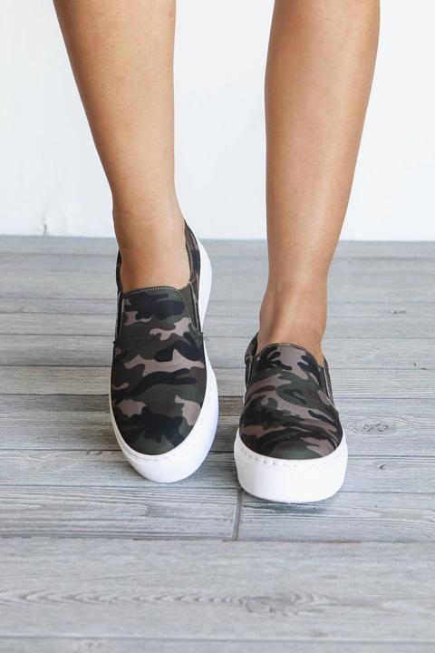 Slip New SneakersAmazing Lace Seen Platform Camo Being On XuOiPkZT