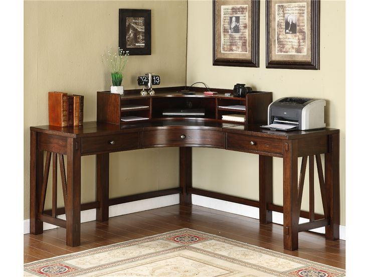 Marvelous Riverside Castlewood Corner Desk With Optional Hutch   Make Use Of Every  Inch Of Your Home Office With The Richly Finished Riverside Castlewood  Corner Desk.