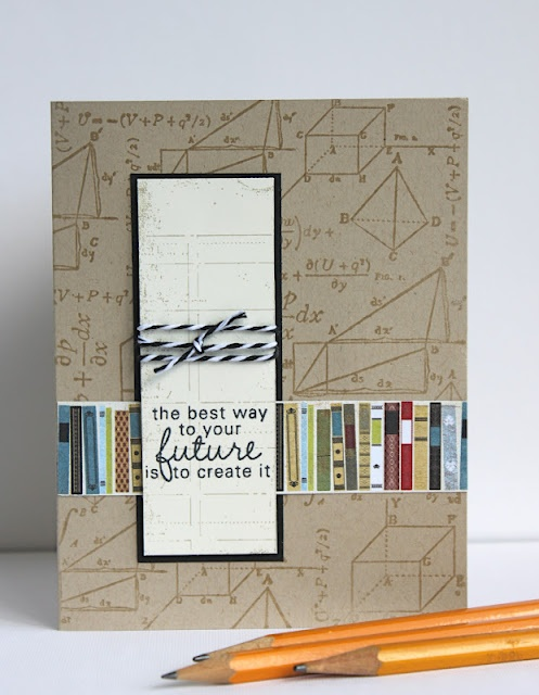 Great back to school card using Formula Fun background stamp. Created by Dixie Cochran