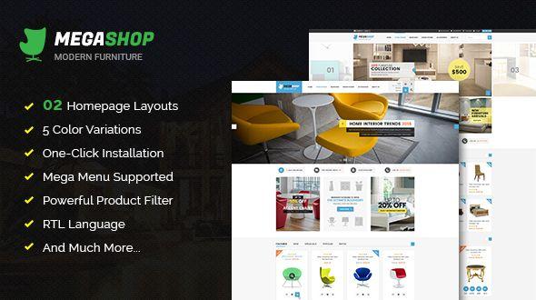 #Megashop - Responsive Multipurpose #OpenCart Theme  - #Shopping