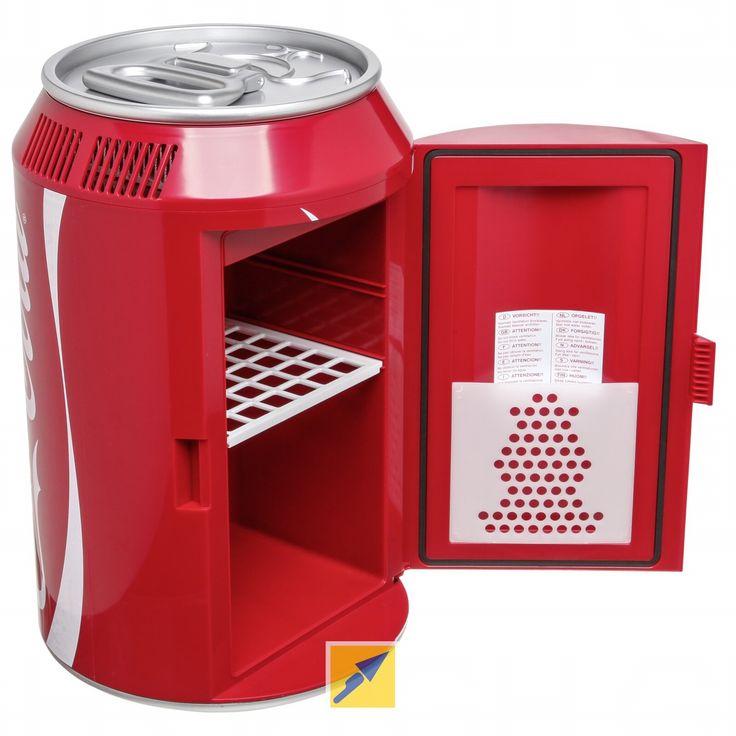 Kühlbox im Coca Cola-Dosen Style.  http://www.technikdirekt.de/haushalt-wohnen/kuechengrossgeraete/kuehlen/kuehlbox-und-kuehltasche/807667/ezetil-coca-cola-cool-can-10-12/230v-kuehlbox