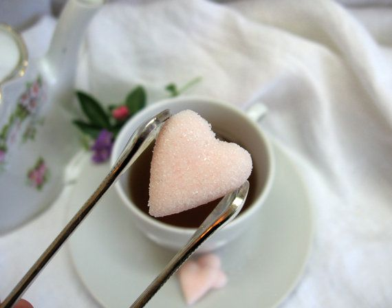 Soft Blush Pink Heart Shaped Sugar Cubes  6 by WishingwellArt