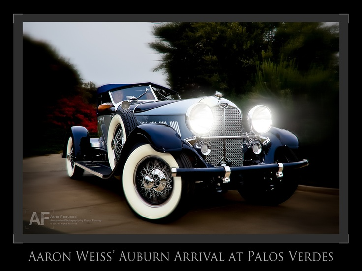 '29 Auburn Speedster 8-120 of Aaron Weiss arriving at Palos Verdes Concours