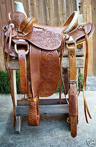 "colorful pictures of western saddles | 16"" Western Vaquero Mounted Shooting Saddle Old Timer Caramel Color ..."