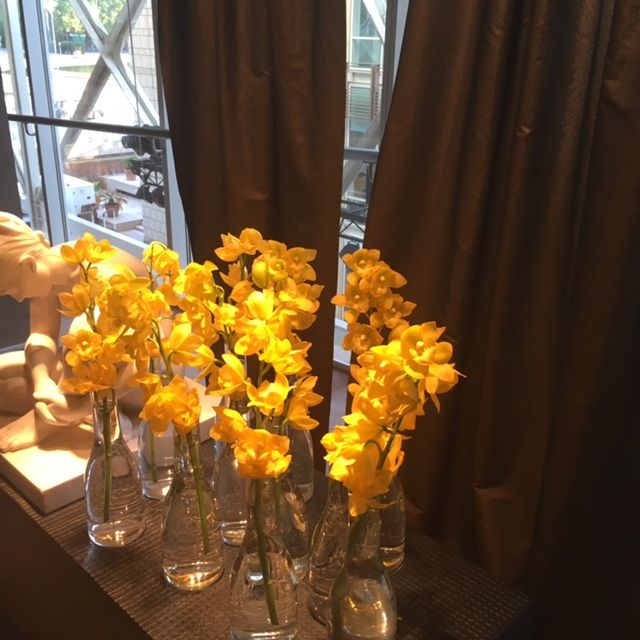 Yellow flowers everywhere. #flowers #yellow #flowerarrangement