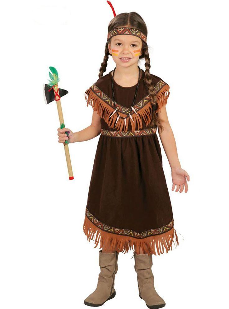 Traje de india sioux para niña | Comprar online