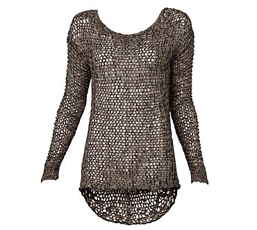 Tape Yarn Sweater in Mocha from Witchery