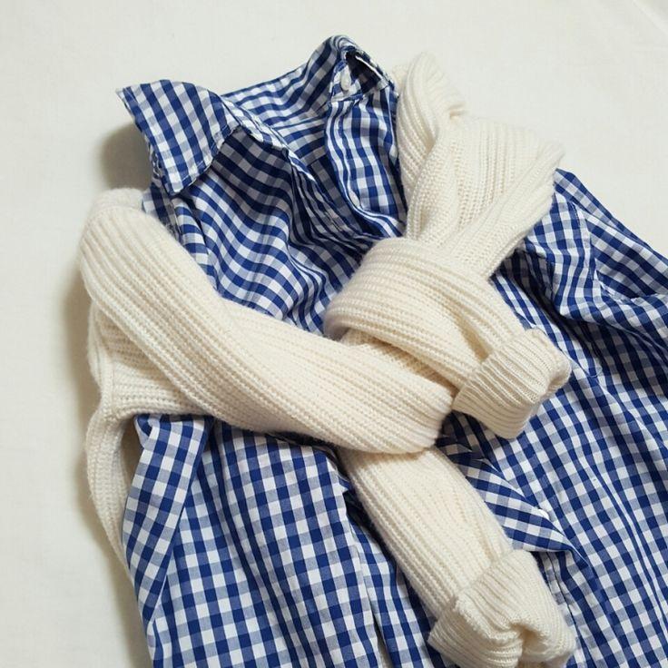 無印のギンガムチェックシャツとオススメ配色のこと |TOKYO BASE ー大人のプチプラコーデブログー