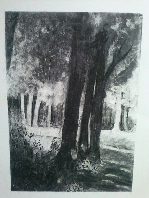 in the park - charcoal