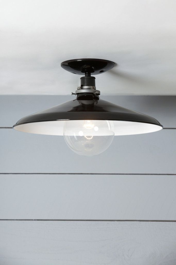 Industrial Ceiling Mount light - 14in Black Metal Shade Lamp - Semi Fl | Industrial Light Electric