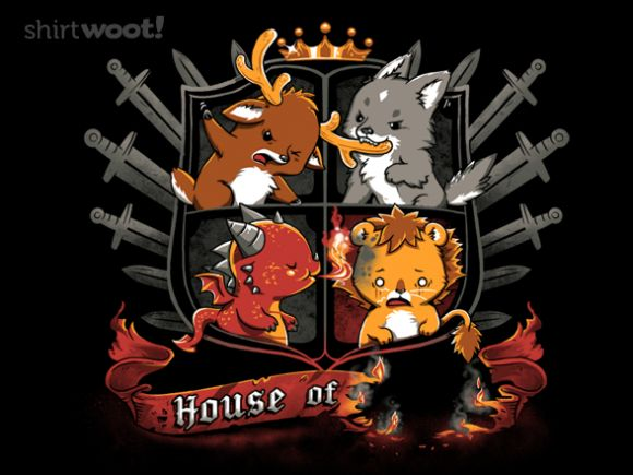 What if all the houses from Game of Thrones were really cute?Games Of Thrones Shirts, Nerdy Stuff, Thrones House, Songs, Gameofthrones, Malcont, Woot Shirts, Geekery, Game Of Thrones