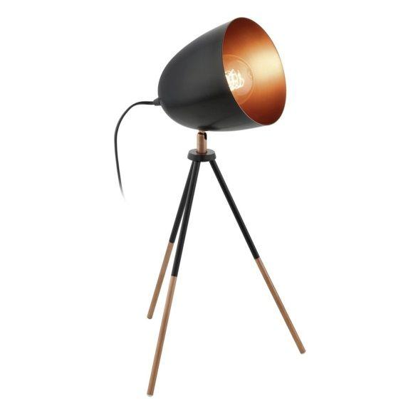 Eglo Chester Tafellamp Zwart / Koper - 44 cm
