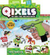 Bouw je ontwerp Qixel per Qixel op! Qixels zijn de blokjes die je aan elkaar hecht. Bouw je eigen Qixel-ontwerp, spuit er water op met de turbospray, laat drogen en maak je eigen wereld van monsters, krijgers, ninja's en meer!