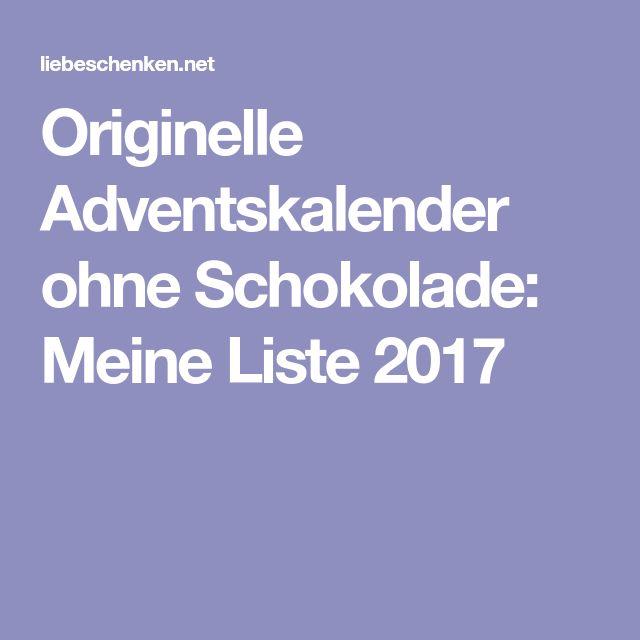 Originelle Adventskalender ohne Schokolade: Meine Liste 2017