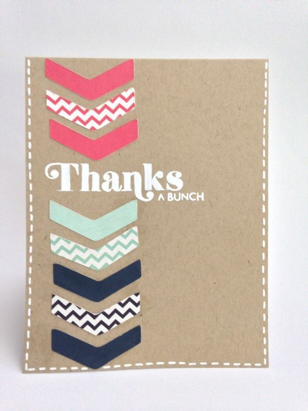 Card made using the Boho Graphics cartridge and the CTMH Stamp of the month