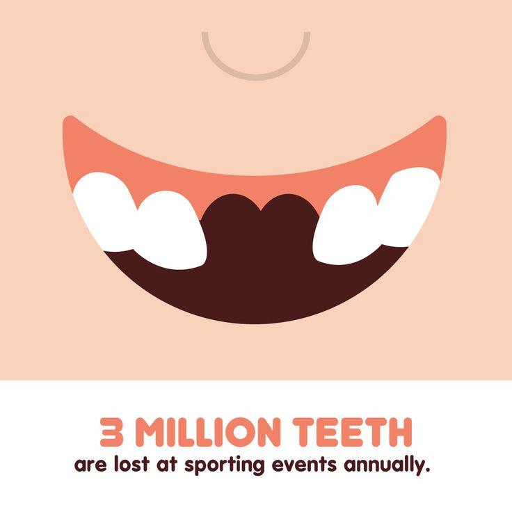 ¿Sabías que alrededor de 3 millones de dientes se pierden debido a actividades deportivas al año?  ¡Protege tu sonrisa usando protectores bucales!