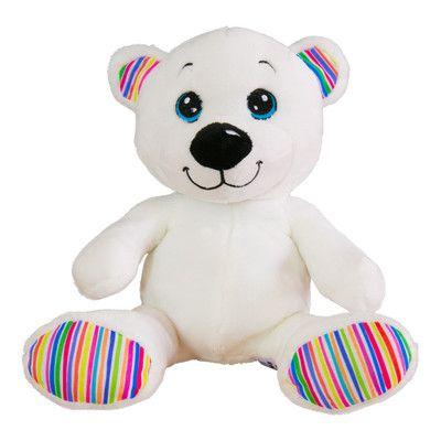 Loomi Bear Plush - The rainbow bear for Rainbow Loom bracelets.
