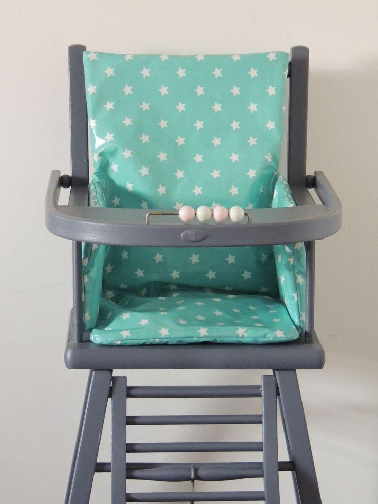 17 best ideas about coussin de chaise haute on pinterest - Patron coussin chaise haute combelle ...