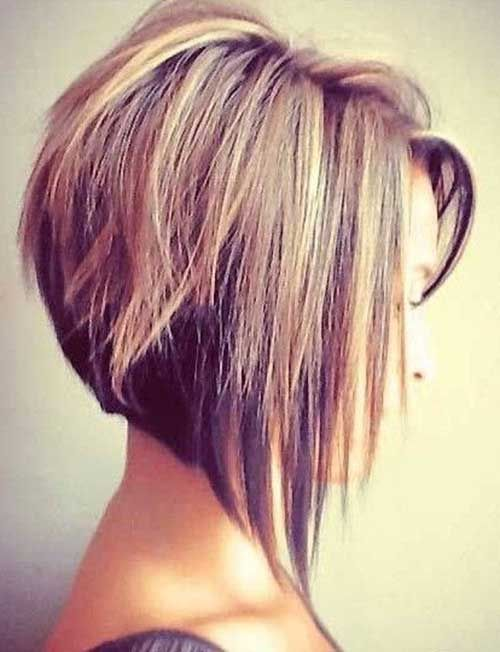 Short Straight Fine Inverted Bob Hair