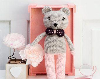 Speelgoed-amigurumi-haak roze Beer-cadeau voor meisje-gift haak voor jongen-baby douche heden-doop aanwezig