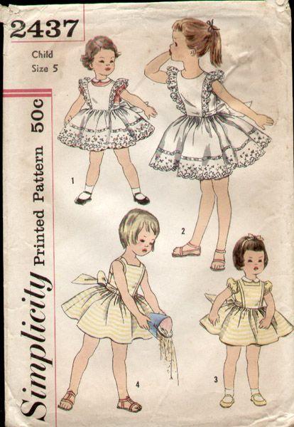 Vintage style girls dress patterns