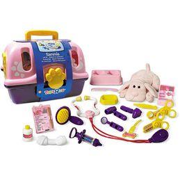 girls veternarian toy | Toys R Us Plush Pink Veterinarian Kit Image