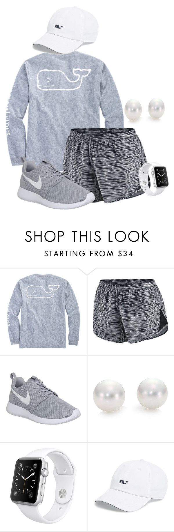 """Lazy day"" by mercedes-designs ❤ liked on Polyvore featuring Vineyard Vines, NIKE, Mikimoto and Apple"