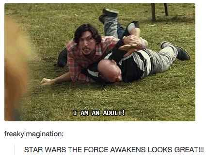 Whenever Kylo was ~so relatable~.