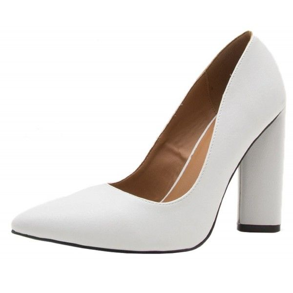 Women's Closed Pointed Toe Chunky