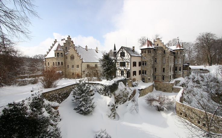 To See // Schloss Lichtenstein is situated on a cliff located near Honau on the Swabian Alb, Baden-Württemberg, Germany. Historically, there has been a castle on the site since around 1200. It was twice destroyed, once in the Reichskrieg's War of 1311 and again by the city-state of Reutlingen in 1381. The castle was not reconstructed and subsequently fell to ruin. In 1802, the land came into the hands of King Frederick I of Württemberg, who built a hunting lodge there.