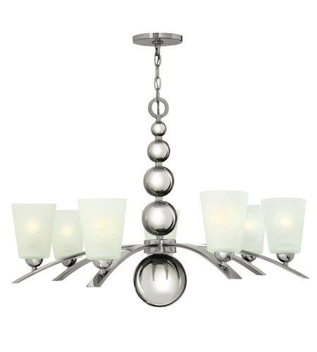 Hinkley Lighting Zelda 7 Light Chandelier in Polished Nickel 3446PN #lightingnewyork #lny #lighting